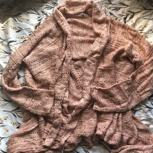 Charlotte Russe Rosy Knit Cardigan